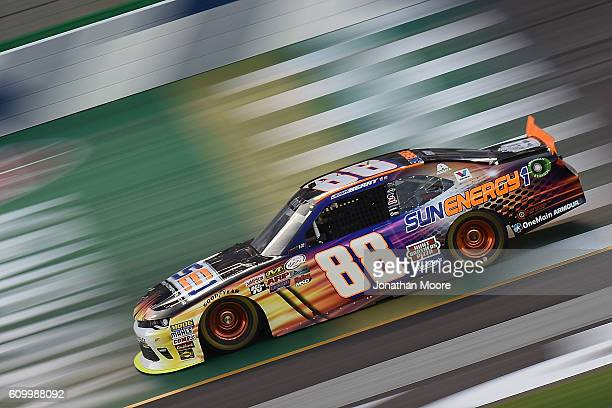 Josh Berry driver of the SunEnergy1 Chevrolet on track during practice for the NASCAR XFINITY Series VysitMyrtleBeachcom 300 at Kentucky Speedway on...