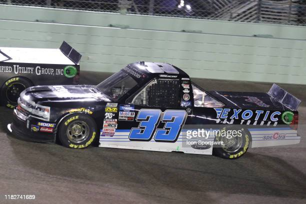 Josh Bilicki driver of the BW Structral Chevrolet during the Ford EcoBoost 200 on November 15 at HomesteadMiami Speedway in Homestead FL