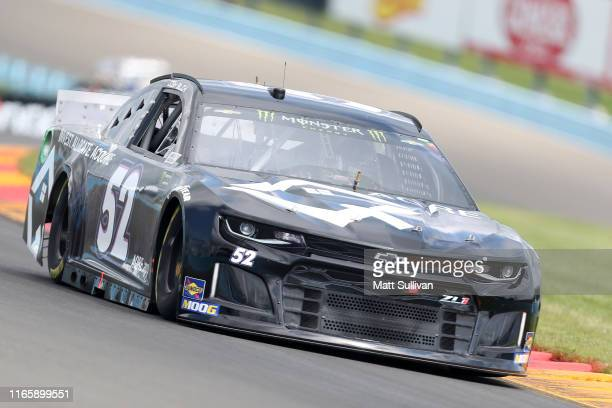 Josh Bilicki driver of the Chevrolet drives during practice for the Monster Energy NASCAR Cup Series Go Bowling at The Glen at Watkins Glen...