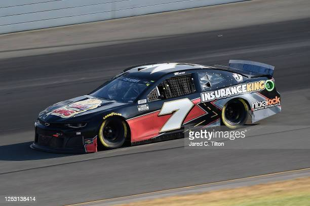 Josh Bilicki driver of the Insurance King Chevrolet during the NASCAR Cup Series Pocono 350 at Pocono Raceway on June 28 2020 in Long Pond...