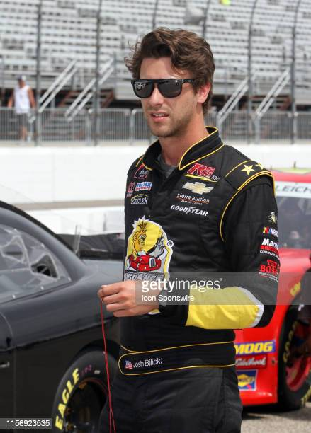 Josh Bilicki waits on pit road for qualifying to begin for the NASCAR Xfinity Series Roxor 200 at New Hampshire Motor Speedway in Loudon New Hampshire