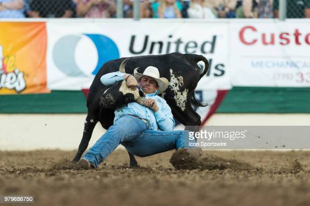 Josh Boka during the Steer Wrestling event at the Reno Rodeo on Tuesday June 19 2018 at the Reno Livestock Events Center in Reno Nev