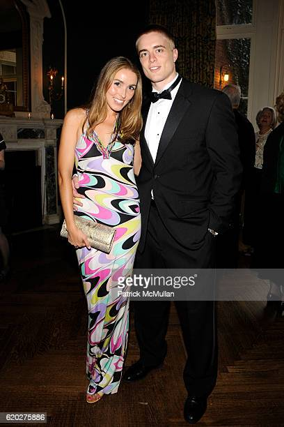 Josh Bonacci and Anya Assante attend CAROLINE ROWLEY Birthday Terez and Peter Rowley Anniversary Dinner and Party at Knickerboker Club on April 12...
