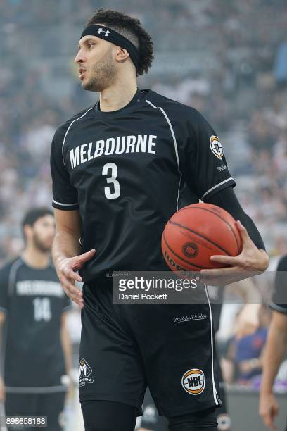 Josh Boone of Melbourne United warms up before the round 12 NBL match between Melbourne United and the Brisbane Bullets at Hisense Arena on December...