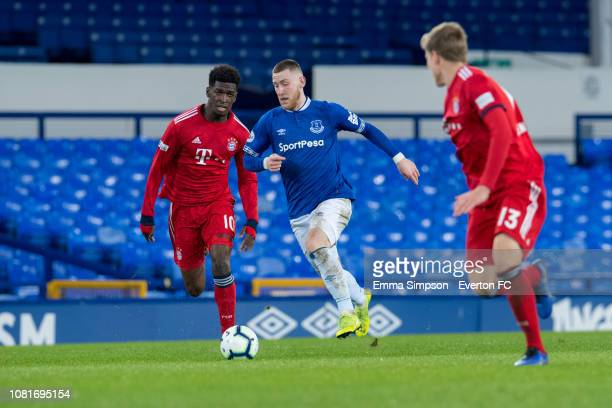 Josh Bowler attacks at Goodison Park on December 12 2018 in Liverpool England