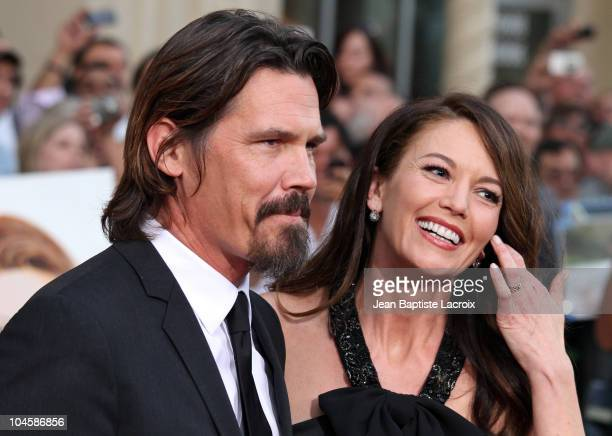 Josh Brolin and Diane Lane attend the 'Secretariat' film premiere at the El Capitan Theatre on September 30, 2010 in Hollywood, California.