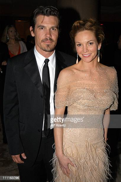 Josh Brolin and Diane Lane during Miramax Oscar Party at St Regis Hotel in Hollywood CA United States