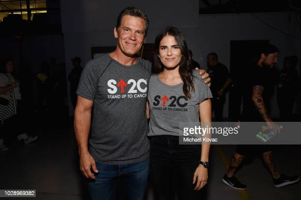 Josh Brolin and Karla Souza attend the sixth biennial Stand Up To Cancer telecast at the Barkar Hangar on Friday September 7 2018 in Santa Monica...