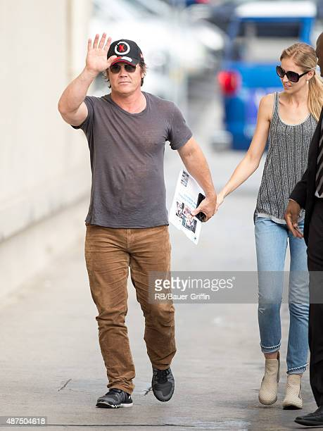 Josh Brolin and Kathryn Boyd are seen at 'Jimmy Kimmel Live' on September 09 2015 in Los Angeles California