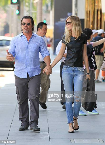 Josh Brolin and Kathryn Boyd are seen on October 12 2015 in Los Angeles California