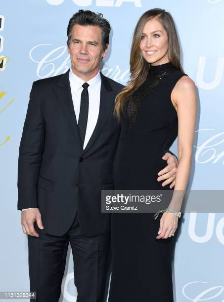 Josh Brolin and Kathryn Boyd arrive at the Hollywood For Science Gala at Private Residence on February 21 2019 in Los Angeles California