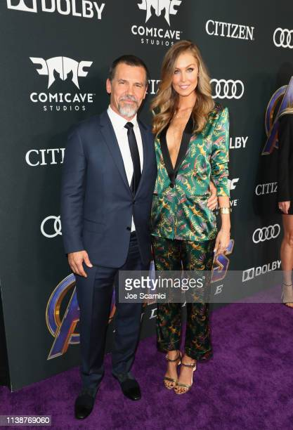 """Josh Brolin and Kathryn Boyd attend Audi Arrives At The World Premiere Of """"Avengers: Endgame"""" on April 22, 2019 in Hollywood, California."""