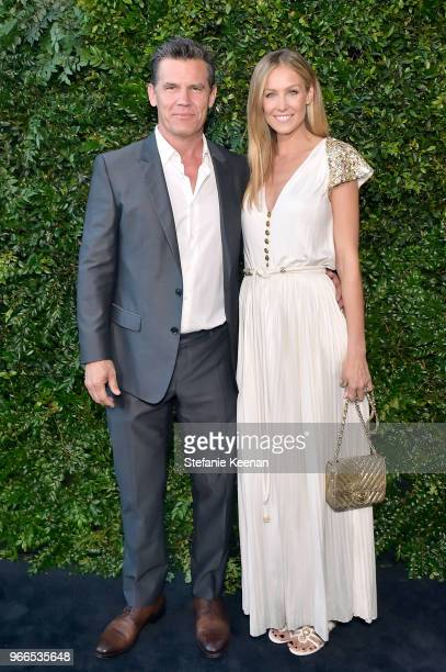 Josh Brolin and Kathryn Boyd attend Chanel Dinner Celebrating our Majestic Oceans A Benefit for NRDC at Private Residence on June 2 2018 in Malibu...