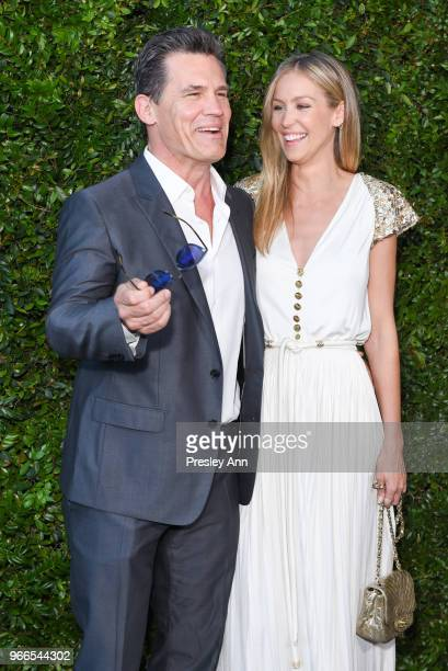 Josh Brolin and Kathryn Boyd attend CHANEL Dinner Celebrating Our Majestic Oceans A Benefit For NRDC on June 2 2018 in Malibu California