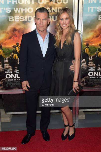 Josh Brolin and Kathryn Boyd attend 'Only The Brave' screening at iPic Theater on October 17 2017 in New York City