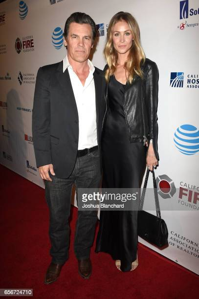 Josh Brolin and Kathryn Boyd attend the 4th Annual California Fire Foundation Gala at Avalon Hollywood on March 22 2017 in Los Angeles California