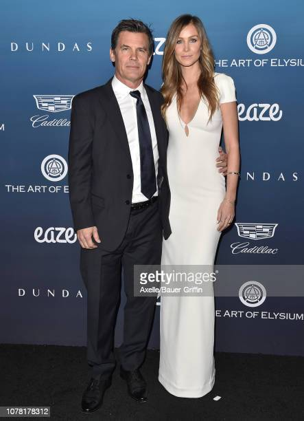 Josh Brolin and Kathryn Boyd attend The Art of Elysium's 12th Annual Celebration Heaven on January 5 2019 in Los Angeles California