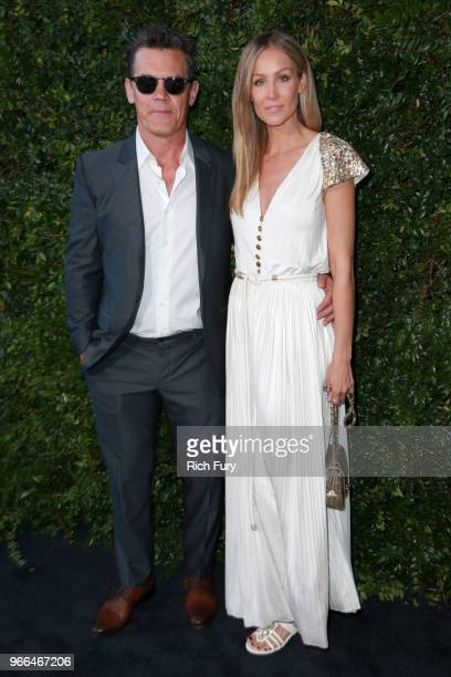 Josh Brolin and Kathryn Boyd attend the CHANEL Dinner Celebrating Our Majestic Oceans A Benefit For NRDC on June 2 2018 in Malibu California