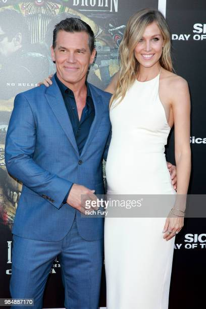 Josh Brolin and Kathryn Boyd attend the premiere of Columbia Pictures' 'Sicario Day Of The Soldado' at Regency Village Theatre on June 26 2018 in...