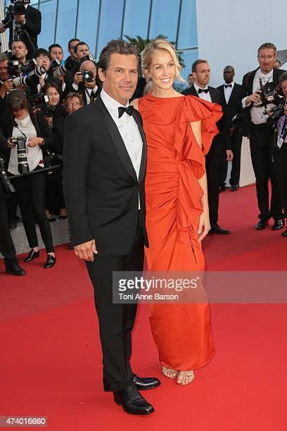 Josh Brolin and Kathryn Boyd attend the 'Sicario' premiere during the 68th annual Cannes Film Festival on May 19 2015 in Cannes France