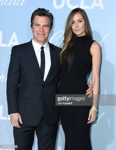 Josh Brolin and Kathryn Boyd Brolin attend the 2019 Hollywood For Science Gala at Private Residence on February 21 2019 in Los Angeles California