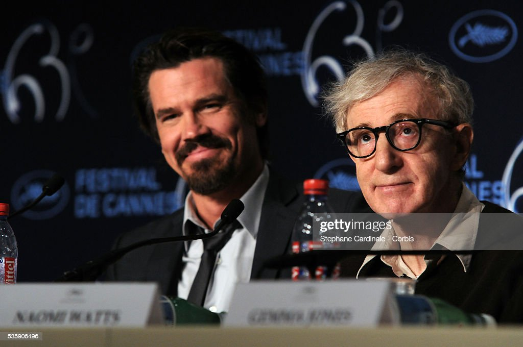 Josh Brolin and Woody Allen at the Press conference of 'You will meet a tall dark stranger' at the 63rd Cannes International Film Festival