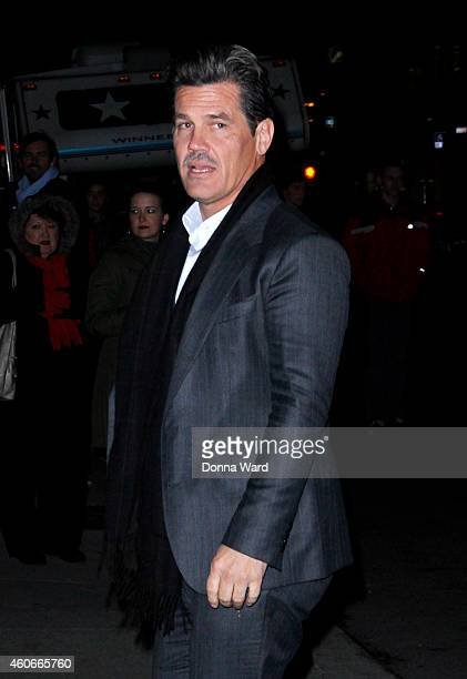 Josh Brolin arrives for the 'Late Show with David Letterman' at Ed Sullivan Theater on December 18 2014 in New York City