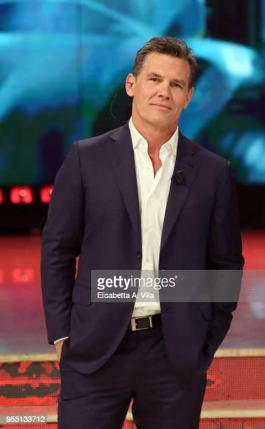 Josh Brolin attends the Italian TV show 'Ballando Con Le Stelle' at RAI Auditorium on May 5 2018 in Rome Italy