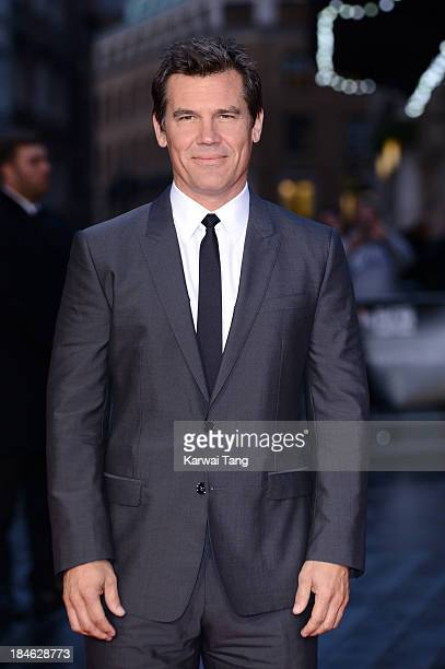 Josh Brolin attends the Mayfair Gala European Premiere of 'Labor Day' during the 57th BFI London Film Festival at Odeon Leicester Square on October...