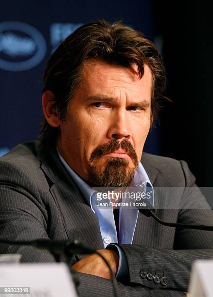 Josh Brolin attends the Wall Street Money Never Sleeps Press Conference at the Palais des Festivals during the 63rd Annual Cannes Film Festival on...