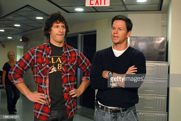 LIVE Josh Brolin Episode 1536 airdate Pictured Andy Samberg Mark Walhberg during the 'Wahlberg's Confrontation' skit on October 18 2008