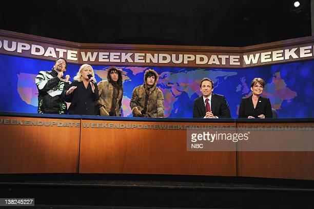 LIVE Josh Brolin Episode 1536 airdate Pictured Jason Sudeikis as Todd Palin Amy Poehler Fred Armisen as eskimo Andy Samberg as eskimo Seth Meyers...