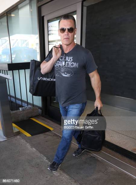 Josh Brolin is seen at LAX on October 20 2017 in Los Angeles California
