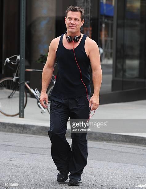 Josh Brolin is seen in Soho on September 13 2013 in New York City