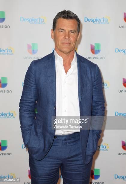 Josh Brolin is seen on the set of Despierta America at Univision Studios to promote the film Sicario Day of the Soldado on June 21 2018 in Miami...
