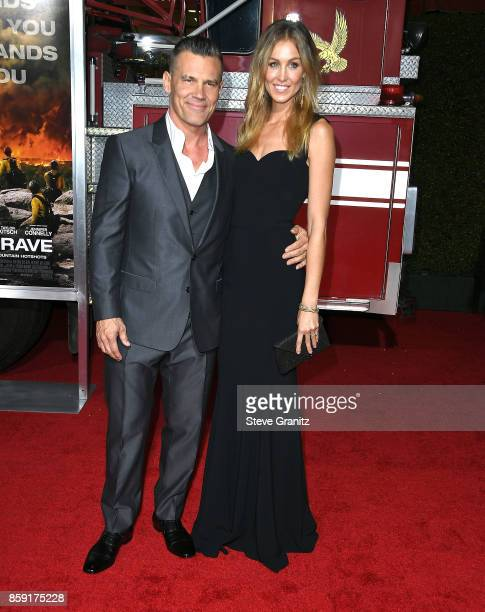 Josh Brolin Kathryn Boyd arrives at the Premiere Of Columbia Pictures' 'Only The Brave' at Regency Village Theatre on October 8 2017 in Westwood...
