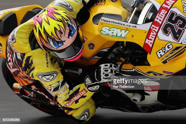 Josh Brookes of Anvil Hire Tag Racing Yamaha team rides during practice for the British Superbike Championship at Brands Hatch on July 21 2017 in...