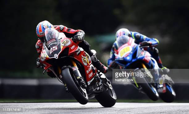 Josh Brookes of Australia in action during the British Superbike Championship at Oulton Park on September 08, 2019 in Chester, England.