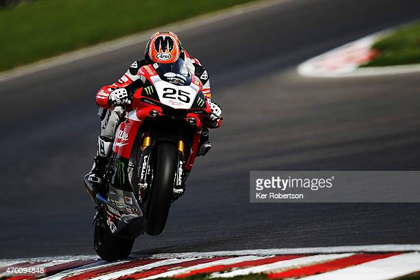 Josh Brooks of Milwaukee Yamaha rides during practice for the MCE British Superbike Championship race at Brands Hatch circuit on April 17, 2015 in...