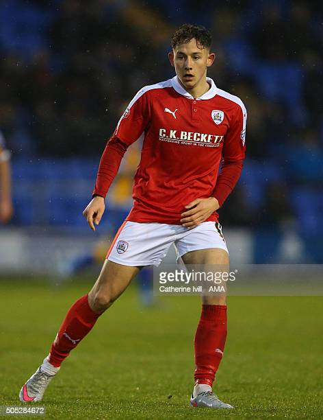 Josh Brownhill of Barnsley during the Sky Bet League One match between Shrewsbury Town and Barnsley at New Meadow on January 16 2016 in Shrewsbury...