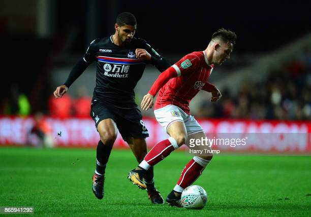 Josh Brownhill of Bristol City and Ruben LoftusCheek of Crystal Palace during the Caraboa Cup Fourth Round match between Bristol City and Crystal...
