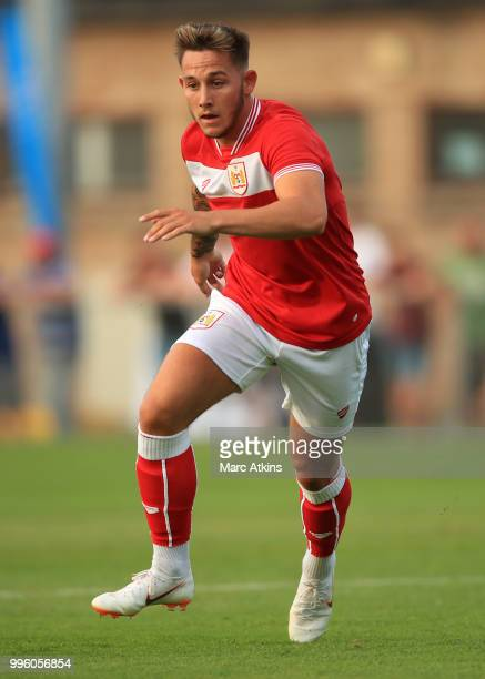 Josh Brownhill of Bristol City during the PreSeason Friendly between Bristol City v Cheltenham Town on July 10 2018 in WestonSuperMare England