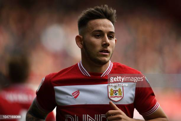 Josh Brownhill of Bristol City during the Sky Bet Championship match between Bristol City and Sheffield Wednesday at Ashton Gate on October 7 2018 in...