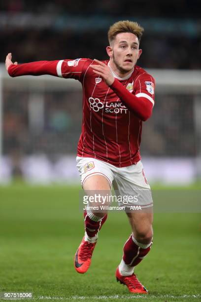 Josh Brownhill of Bristol City during the Sky Bet Championship match between Derby County and Bristol City at iPro Stadium on January 19 2018 in...
