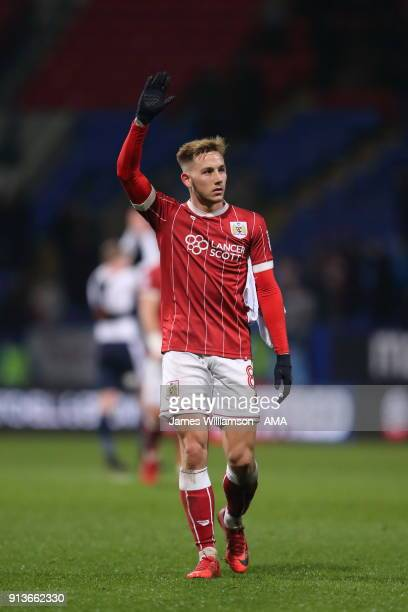 Josh Brownhill of Bristol City during the Sky Bet Championship match between Bolton Wanderers and Bristol City at Macron Stadium on February 2 2018...