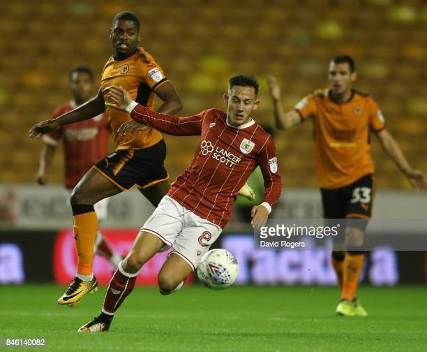 Josh Brownhill of Bristol City moves away with the ball during the Sky Bet Championship match between Wolverhampton and Bristol City at Molineux on...