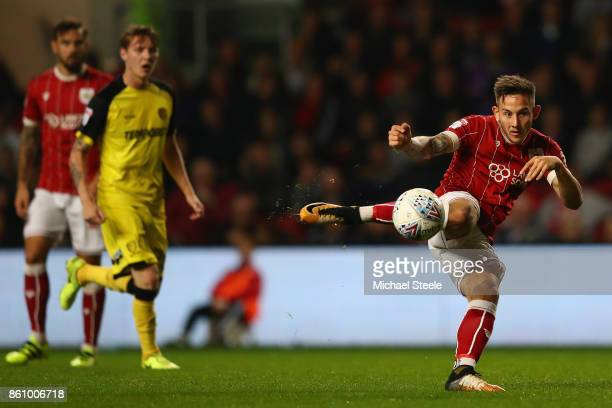 Josh Brownhill of Bristol City shoots during the Sky Bet Championship match between Bristol City and Burton Albion at Ashton Gate on October 13 2017...