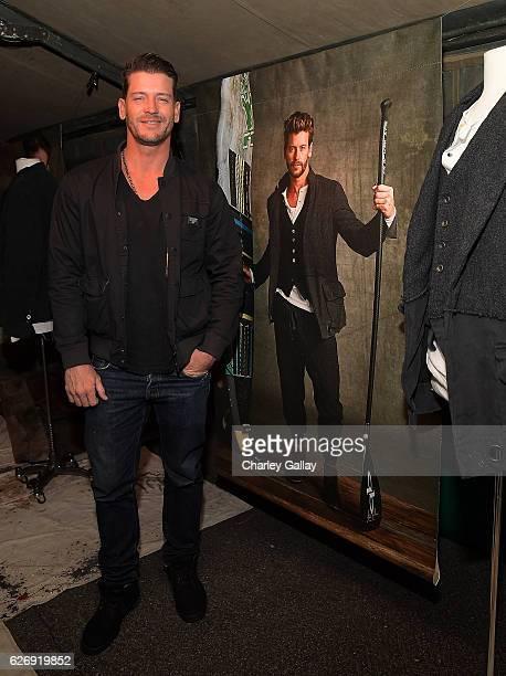 Josh Button attends the Greg Lauren For Banana Republic Event at Greg Lauren Studio on November 30 2016 in Los Angeles California