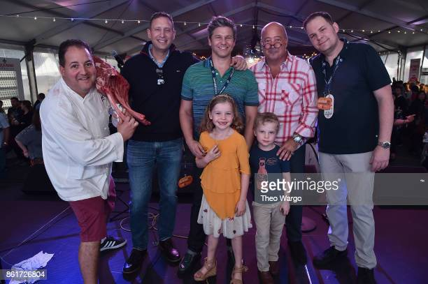 Josh Capon Pat LaFrieda David Burtka Andrew Zimmern Mark Pastore Harper BurtkaHarris and Gideon BurtkaHarris stand onstage at the Food Network...