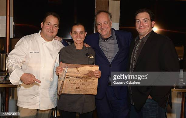 Josh CaponPaula DasilvaTony Mantuano and Larry Carrino attends the MasterCard Priceless And Food Network Present FirstEver MultiCity Chopped...